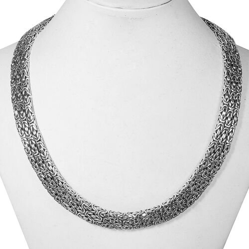 Royal Bali Collection Sterling Silver Borobudur Necklace (Size 17), Silver wt 139.00 Gms.