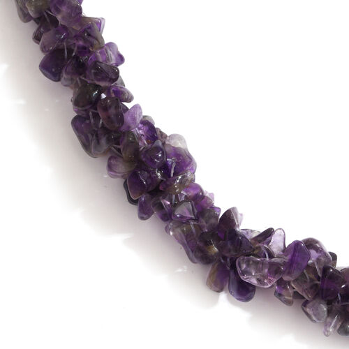Amethyst Beads Necklace (Size 24) 325.000 Ct.