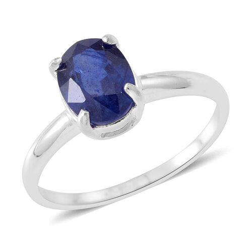 TJC Special Deal- Masoala Sapphire (Ovl) Solitaire Ring in Sterling Silver 1.750 Ct.