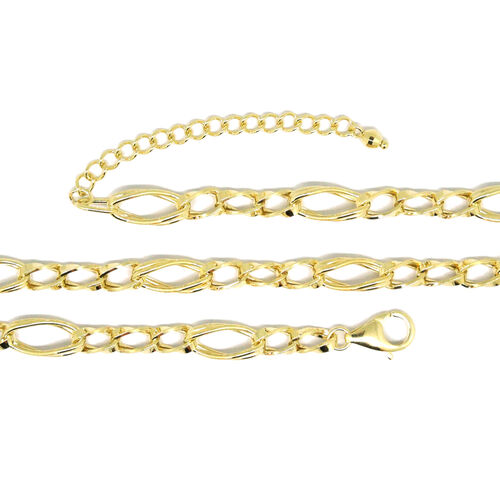 9K Y Gold Figaro Necklace (Size 18 with 2 inch Extender), Gold wt 8.30 Gms.