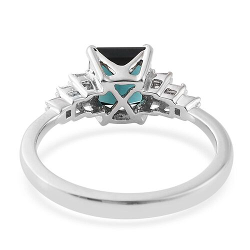 RHAPSODY 950 Platinum 1.90 Ct. AAAA Monte Belo Indicolite Octagon Ring with Diamond VS E-F