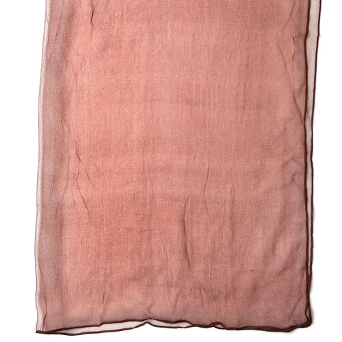 100% Mulberry Silk Chocolate Colour Scarf (Size 170X70 Cm)