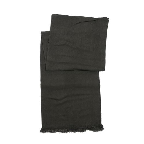 100% Rayon Pareo - Dark Charcoal Colour (Size 190x120 Cm)