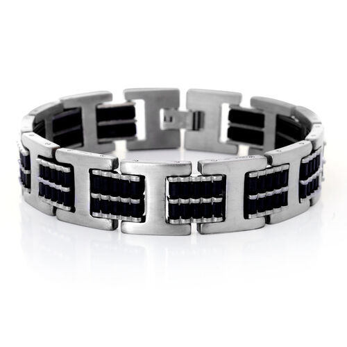 Stainless Steel Bracelet (Size 7.5) with Resin