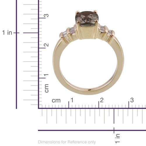 ILIANA 18K Y Gold Turkizite (Cush 2.50 Ct), Diamond Ring 2.750 Ct.