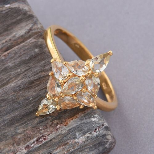 Natural Turkizite (Pear) Ring in 14K Gold Overlay Sterling Silver 2.000 Ct.