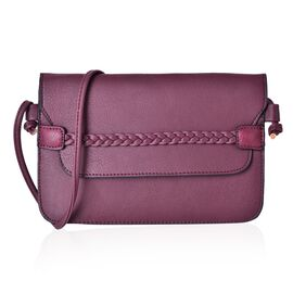Burgundy Colour Crossbody Bag with Shoulder Strap (Size 25x17 Cm)