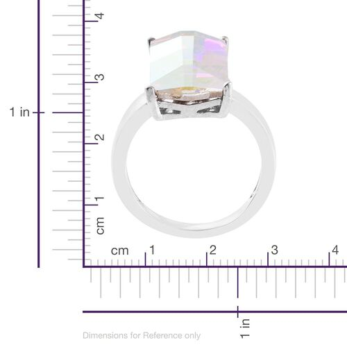 Limited Edition - J Francis Crystal from Swarovski - AB Crystal (Bgt) Ring in ION Plated Platinum Bond