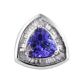 RHAPSODY 950 Platinum AAAA Tanzanite (Trl 1.25 Ct), Diamond (VS/E-F) Pendant 1.500 Ct.