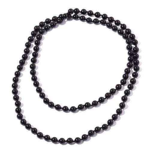 Rare AAA Round Bead Australian Black Tourmaline Necklace (Size 30) 203.700 Ct.