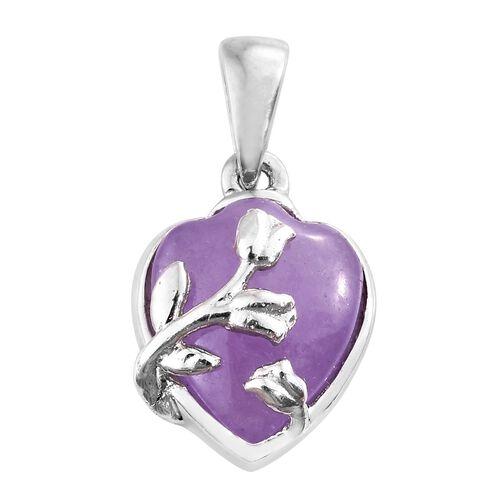 Purple Jade (Hrt) Pendant in Platinum Overlay Sterling Silver 3.000 Ct.
