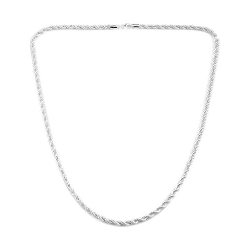 JCK Vegas Collection Sterling Silver Rope Chain (Size 24), Silver wt 16.80 Gms.