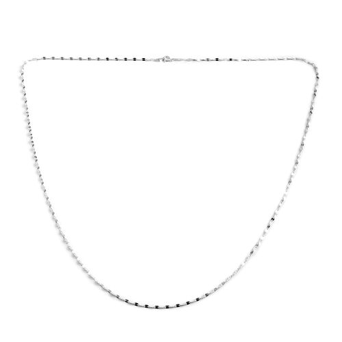 Vicenza Collection Sterling Silver Forzatina Chain (Size 30)