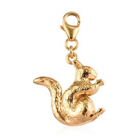 Squirrel Silver Charm in Gold Overlay with Clasp 4.61 Gms.
