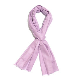 Limited Available - Super Soft- 100% Cashmere Wool Lavender Pink Colour Shawl with Fringes (Size 200X70 Cm)