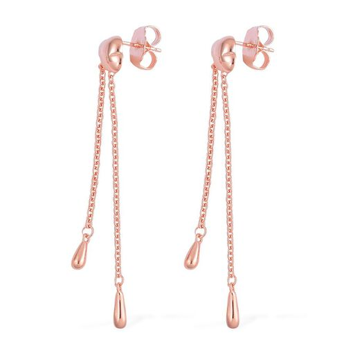 LucyQ Raincloud Earrings (with Push Back) in Rose Gold Overlay Sterling Silver 6.67 Gms.