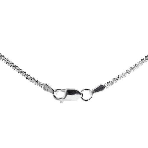 JCK Vegas Collection Sterling Silver Chain (Size 16), Silver wt. 3.12 Gms.