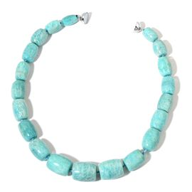 Only 40 Ever Made- AAA Rare Russian Amazonite Necklace (Size 20) in Rhodium Plated Sterling Silver with Magnetic Clasp 1065.000 Ct.