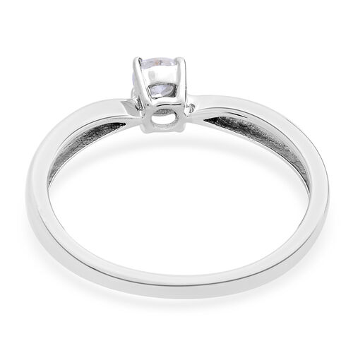 9K White Gold 0.25 Carat SGL Cerfified Diamond I3/G-H Solitaire Ring