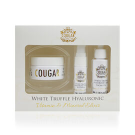 COUGAR- White Truffle Set Pack Trio contains The White Truffle Facial Oil 30ml, Day and Night Cream 50ml and an Eye Serum 15ml- Estimated dispatch within 3-5 working days