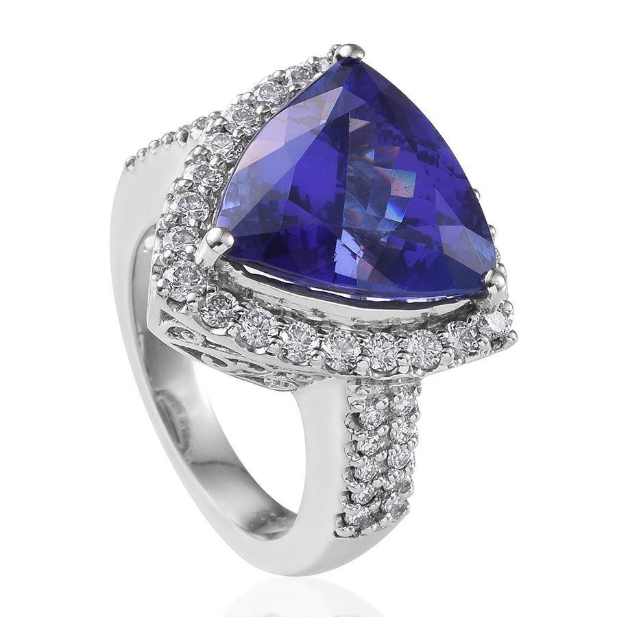 Aaaa Tanzanite Diamond Rings