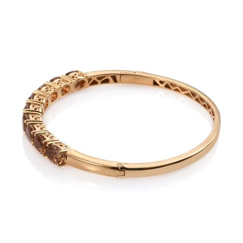 Alexite (Ovl) Bangle (Size 7.5) in ION Plated 18K YG Bond 10.750 Ct.