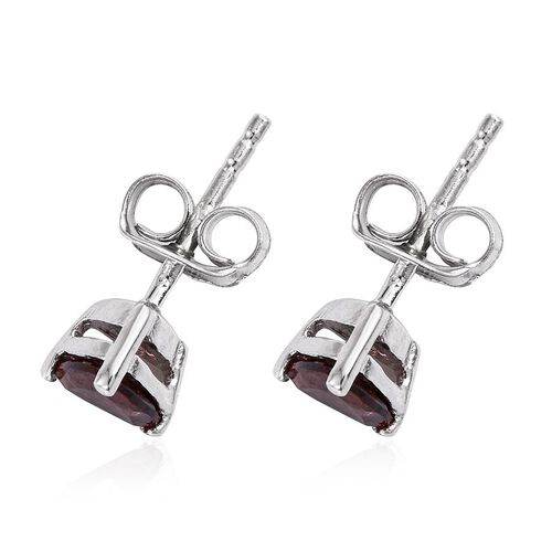 AA Umba River Zircon (Trl) Stud Earrings (with Push Back) in Platinum Overlay Sterling Silver 1.250 Ct.