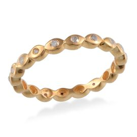 Diamond (Rnd) Full Eternity Ring in Yellow Gold Overlay Sterling Silver 0.250 Ct.