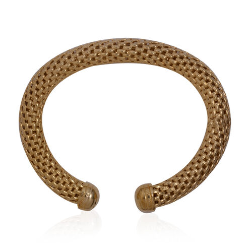 Close Out Deal Mesh Cuff Bangle (Size 7 - 8) in Gold Bond