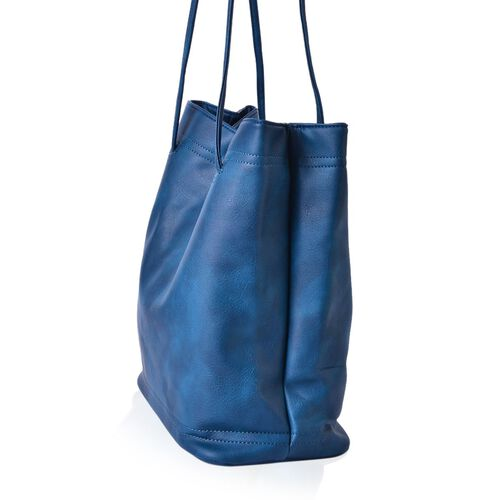 Designer Inspired Estella Royal Blue Colour Large Tote Bag (Size 30x30x16 Cm)