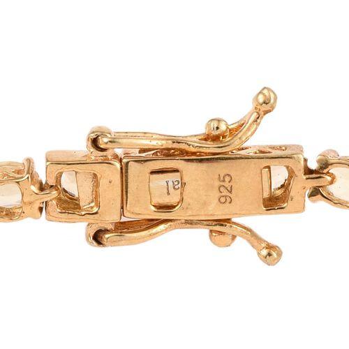 Marialite (Ovl) Tennis Bracelet (Size 7) in 14K Gold Overlay Sterling Silver 7.000 Ct.