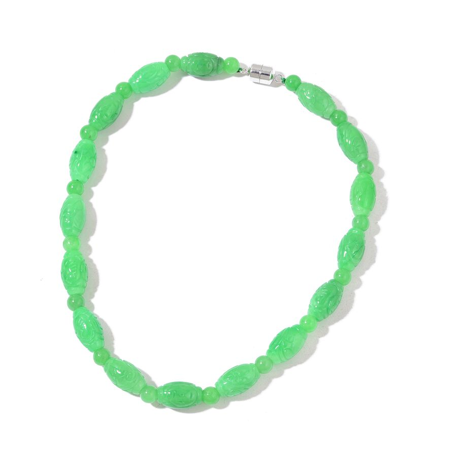 grade oil lowest inch beads necklace jadeite s price a green new natural pcs p jade other