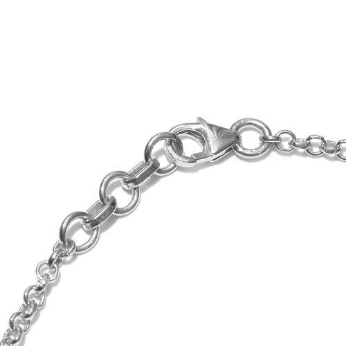 Platinum Overlay Sterling Silver Bracelet (Size 7.5 with 0.5 Extender), Silver wt 4.00 Gms.