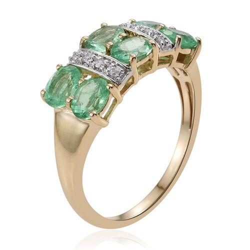 9K Y Gold Boyaca Colombian Emerald (Ovl), Diamond Ring 2.250 Ct.