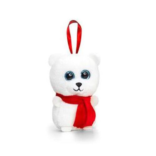 Red and White Colour Bear by Keel Toy (Size 10 Cm)