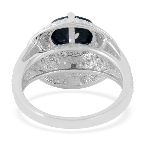 AAA Simulated Diamond (Ovl 3.25 Ct) Ring in Sterling Silver 4.000 Ct.