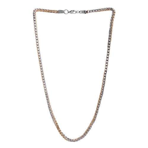 Close Out Deal 2 Tone Stainless Steel Necklace (Size 22), Metal Wt 42.00 Gms.