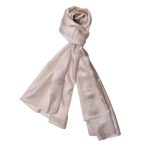 100% Mulberry Silk Hazelwood Colour Scarf (Size 180x110 Cm)