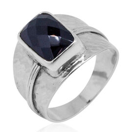 Royal Bali Collection Boi Ploi Black Spinel (Oct) Solitaire Ring in Sterling Silver 6.640 Ct.