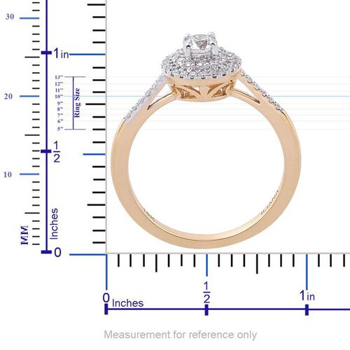 ILIANA 18K Yellow Gold IGI Certified Diamond (Rnd) (SI G-H) Engagement Ring 0.500 Ct.
