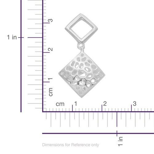 RACHEL GALLEY Sterling Silver Memento Diamond Earrings (with Push Back), Silver wt 3.87 Gms.