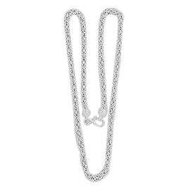 Vicenza Collection Byzantine Necklace in Sterling Silver (Size 24), Silver wt 31.96 Gms.