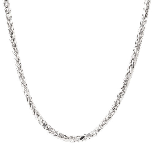 Royal Bali Collection 9K White Gold Diamond Cut Tulang Naga Necklace (Size 20), Gold wt 11.01 Gms.