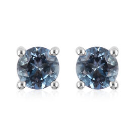 0.50 Carat AA Santa Maria Aquamarine Stud Earrings in 9K White Gold (with Push Back)