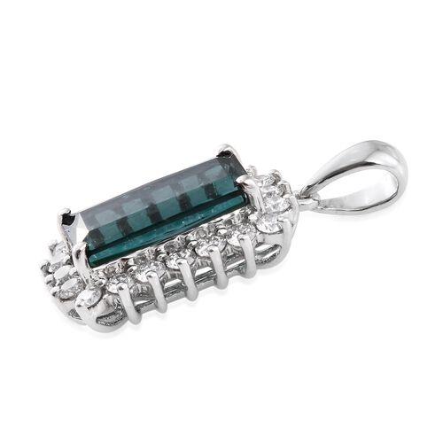 RHAPSODY 950 Platinum 4.25 Ct Monte Belo Indicolite, Diamond Pendant