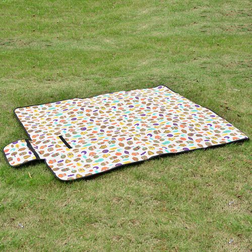EXTRA LARGE Pink, Purple and Yellow Colour Stripes Pattern Picnic Blanket (Size 195X140 Cm)