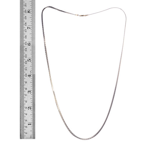 14K Gold Overlay Sterling Silver Chain (Size 24), Silver wt 4.80 Gms.