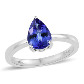 RHAPSODY 950 Platinum AAAA Tanzanite (Pear) Ring 2.00 Ct, Platinum wt 5.25 Gms.
