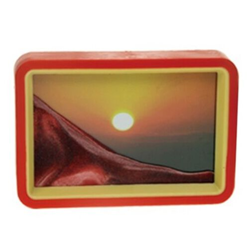 Home Decor - Sun Design Sand-Art Picture with Mirror on Back (Size 19.2X13.7X3 Cm)