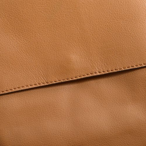 Genuine Leather Tan Colour Sling Bag (Size 20 X 22 X 5.5 CM)